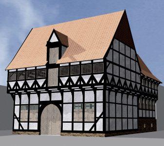 Darstellung des mittelalterlichen Zustands. Grafik: Gebautes Erbe
