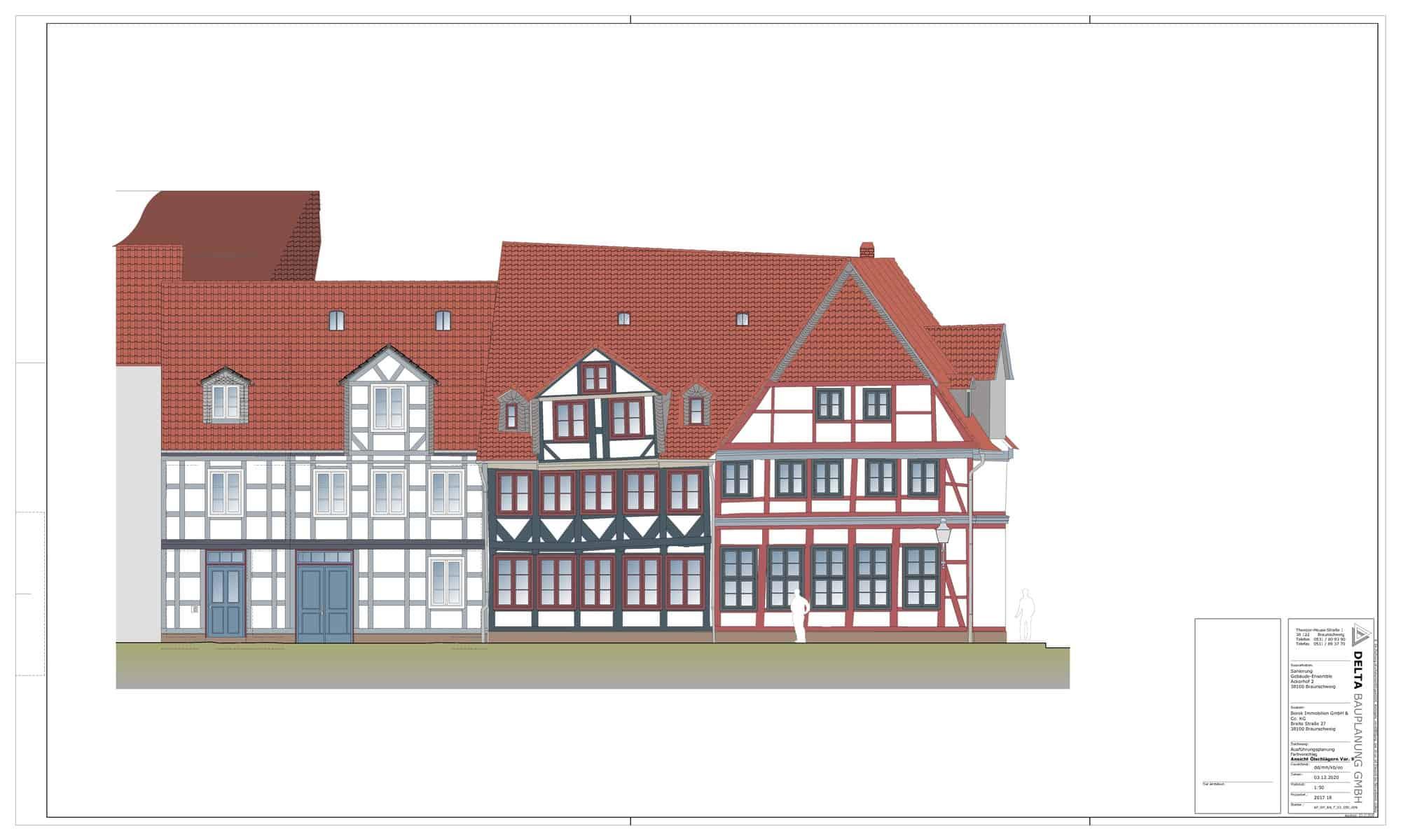 Ansicht der geplanten Sanierung Ölchlägern. Illustration: Delta Bauplanung GmbH