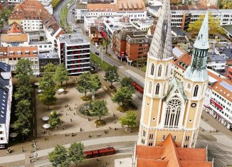 So hätte der umgestaltete Hagenmarkt aussehen können. Animation: Büro Ackers Partner Städtebau