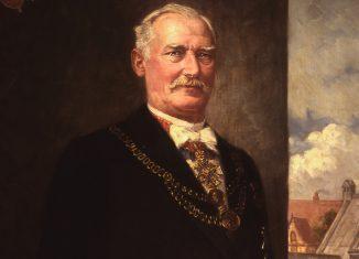 Wilhelm Pockels mit Amtskette. Foto: Stadtarchiv