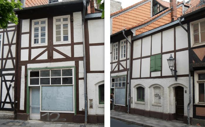 Diese beiden Gebäude am Ölschlägern müssen zurückgebaut werden. Foto: Gebautes Erbe