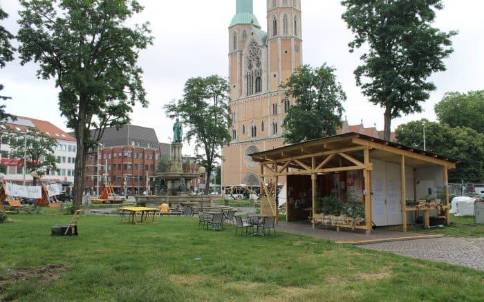 Das Reallabor auf dem Hagenmarkt. Foto: Der Löwe