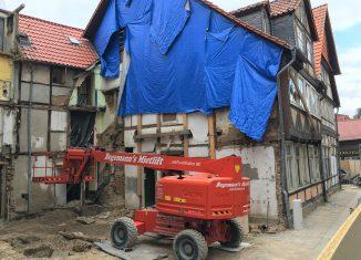 Die Baustelle am Ölschlägern nach Rückbau der beiden Gebäude. Foto: Der Löwe
