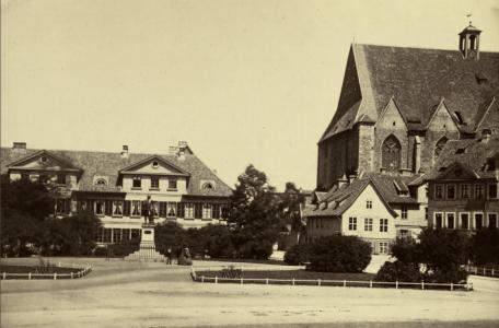 Ansicht des Lessingplatzes um 1900. Foto: Archiv
