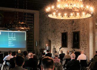 Historiker Prof. Dr. Thomas Vogtherr (Osnabrück) ordnete in seinem Vortrag Braunschweigs Bedeutung im überregionalen Kontext ein. Foto: Meike Buck