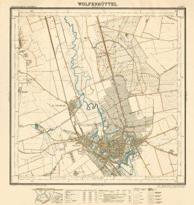 Kartenblatt Wolfenbüttel (15a) der TK10 HBS. Reproduktions-Maßstab ca. 1:24.000, Digitales Archiv der LGLN, Sign. HBS15a.