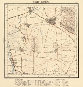 Kartenblatt Gross Denkte (20) der TK10 HBS. Reproduktions-Maßstab ca. 1:24.000, Digitales Archiv der LGLN, Sign. HBS20