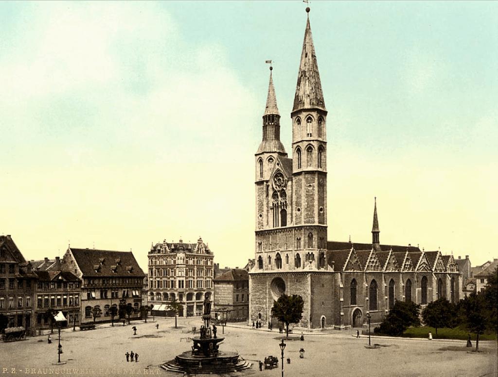 Der Hagenmarkt um 1900. Foto: Screenshot Braunschweiger Plätze