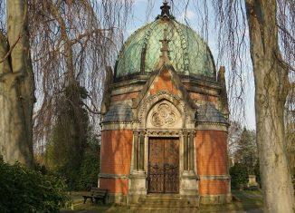 Mausoleum Bautler auf dem Hauptfriedhof. Foto: Schumann