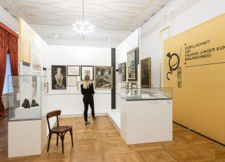Blick in die Ausstellung. Revolutionäre im Arbeitszimmer des Schlossmuseums. Foto: Schlossmuseum Braunschweig / Moritz Küstner