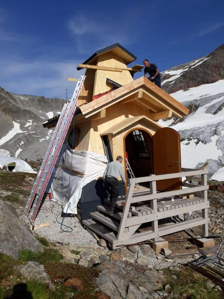 Das Fundament für die Kapelle war bereits 2019 gegossen worden. Foto: Armin Rogge