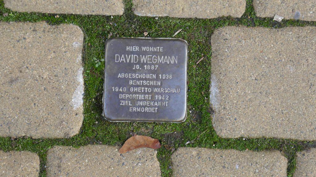 Stolperstein David Wegmann in Helmstedt. Foto: Jochen Weihmann
