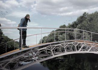 So könnte die Brücke der Zukunft aussehen. Visualisierung: Yinan Xiao, Noor Khader - ITE/Braunschweig, Entwurf: Pierluigi D'Acunto, Ole Ohlbrock - ETH Zürich